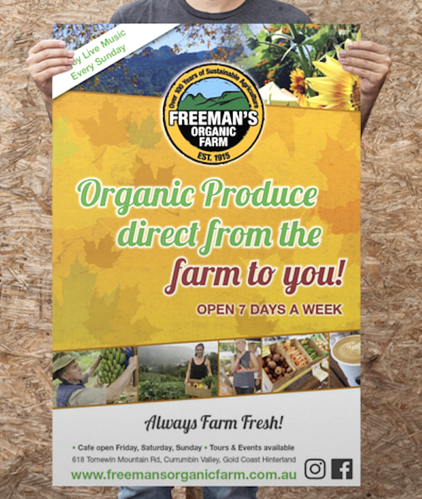 Freemans Organic Farm Poster
