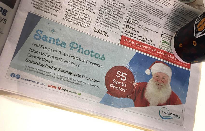 Tweed Mall Press Ad